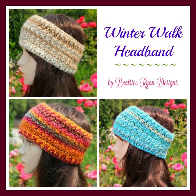 Winter Walk Headband Free Crochet Pattern