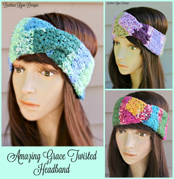 Amazing Grace Twisted Headband…Free Crochet Pattern!