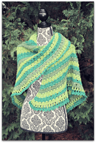 Amazing Grace Lucky Green Shawl... Free Pattern