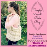 Simply August Boho Bag Crochet Along… Week 3 Finale!