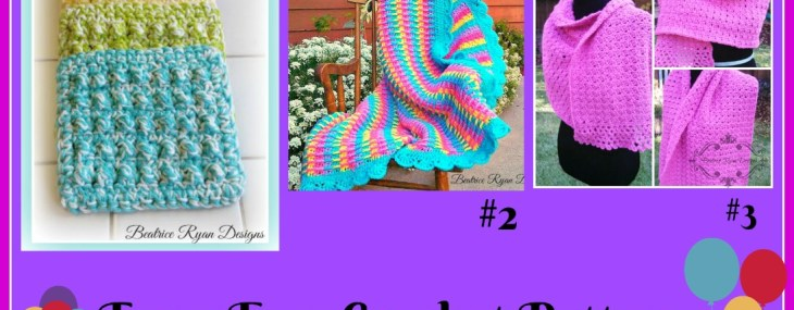 July's Top 3 Pattern's on Beatrice Ryan Designs…. Check it out!!