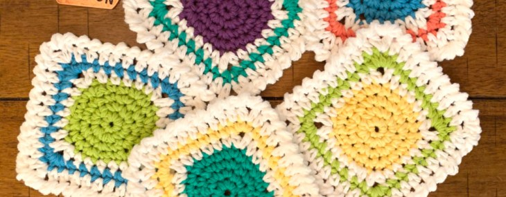 Brighten My Day Coaster… Free Crochet Pattern