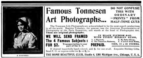 Beatrice Tonnesen Advertisement 1902