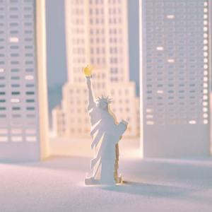 Creative paper city cut