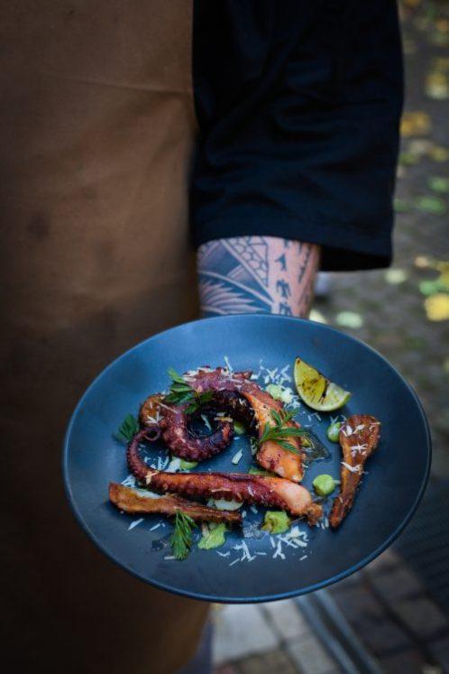 Octopus a La Plancha, recipe by Night Kitchen Berlin © Beatriz Lanchas