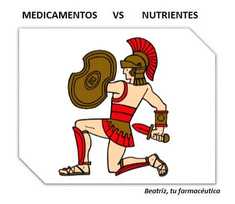 """""""La batalla"""" entre medicamentos y nutrientes"""