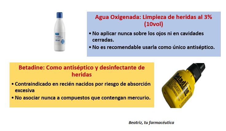 agua oxigenada y betadine compatibles