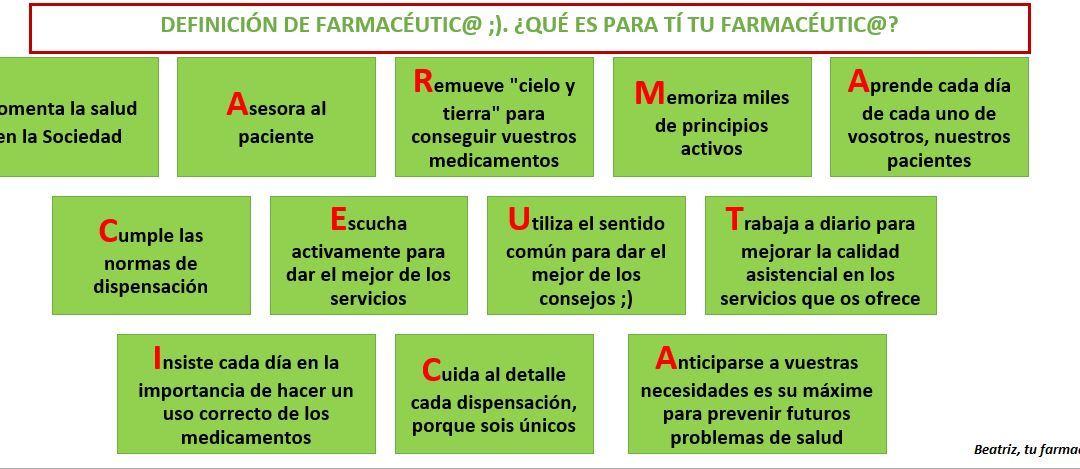 Significado de la palabra FARMACÉUTIC@
