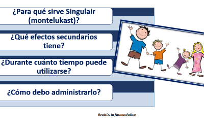 """""""Le han recetado Singulair a mi hijo""""….¿Para qué sirve Singulair?"""