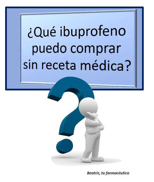 ¿Qué ibuprofeno puedo comprar sin receta médica?