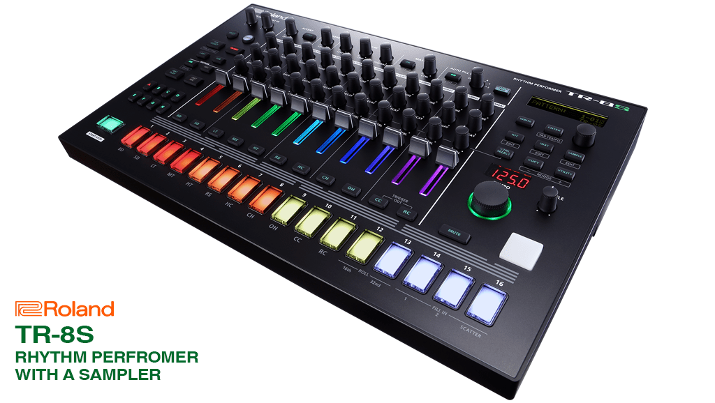News : Roland launches TR-8S, Classic rhythm performer with a sampler.
