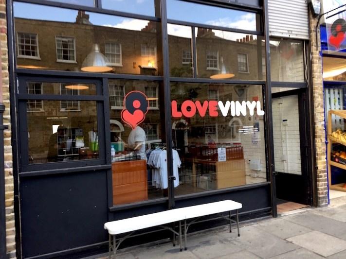 Love vinyl from outside - Hoxton