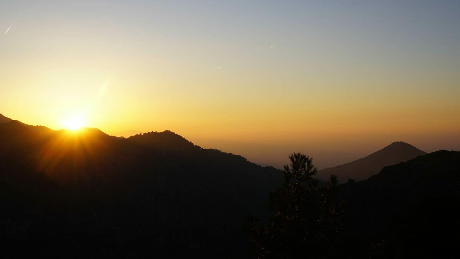 Sierra Nevada sunset