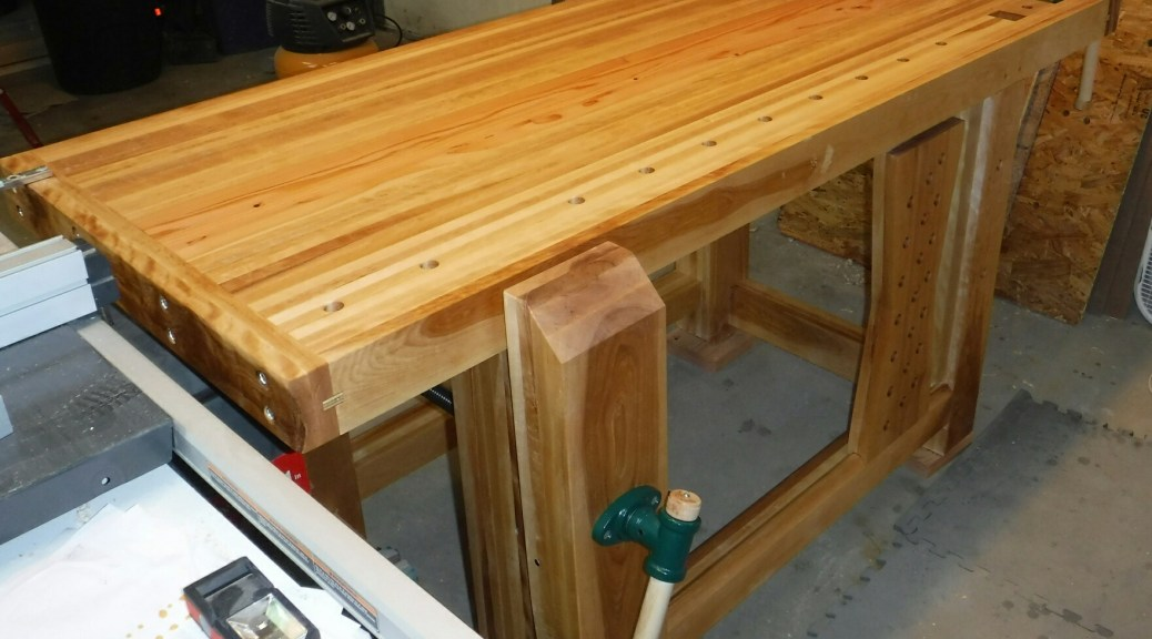 Birch Bench 11 Flattening Top Leg Vise Install T Track