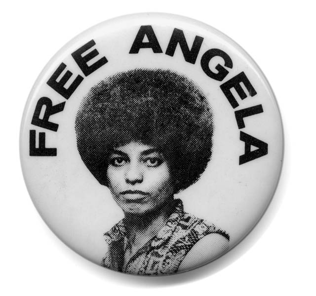 Free Angela Davis badge