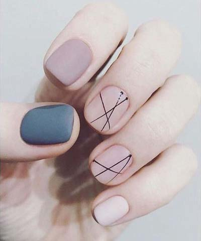 Κομψά και διακριτικά σχέδια για νύχια (24)