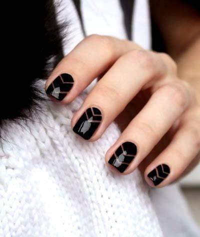 Κομψά και διακριτικά σχέδια για νύχια (32)