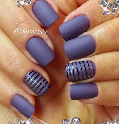 Κομψά και διακριτικά σχέδια για νύχια (38)