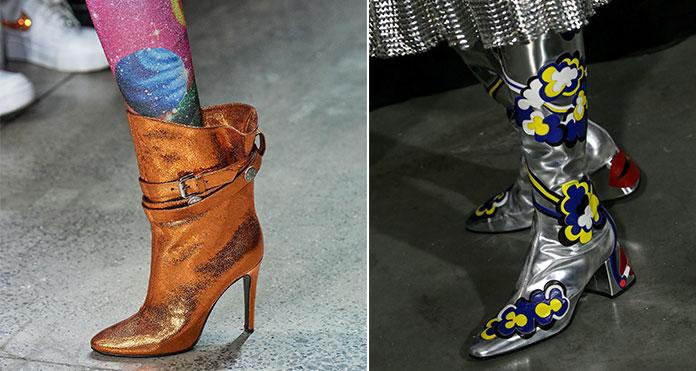Μεταλλικές και αστραφτερές μπότες για glamorous εμφανίσεις