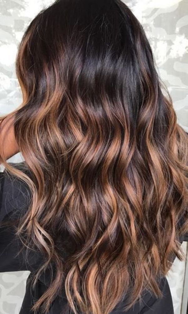 Caramel Hair Highlights Dark Brown Hair