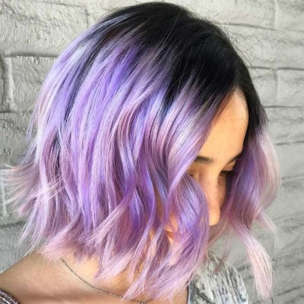 Lavender Hair Highlights