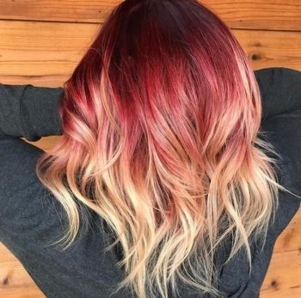 Red And Blonde Hair Highlights