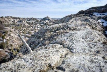 An erosive ditch runs the length of Devils Pass