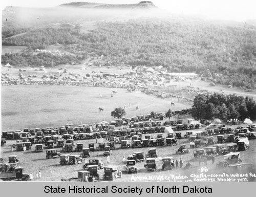 History shows the attraction of the Killldeer Mountain Roundup. It started in Oakdale, north of Killdeer.