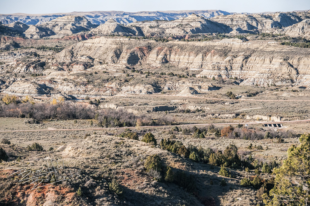 The rolling hills of the North Dakota Badlands.