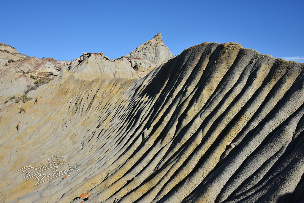 erosion has left its mark on the back side of the China Wall in the North Dakota Badlands