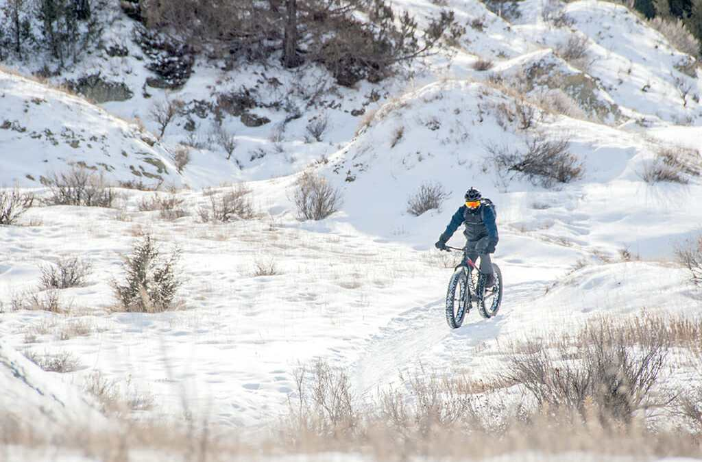 A good race through the snow in the badlands of North Dakota