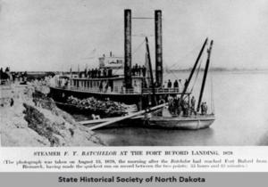Steamer F.Y. Batchelor at Fort Buford landing, Dakota Territory