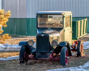 Marmarth Golva Highway 16 1920 International pickukp truck