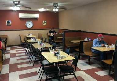 The seating at Little Missouri Grille is amble, and includes a large dining area separated from the area with booths.