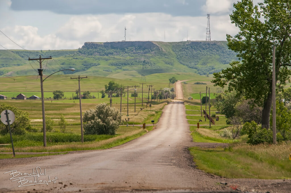 Sentinel Butte gravel road