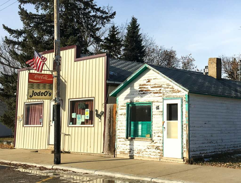 Jodeo's Cafe in Halliday survives when many businesses did not.