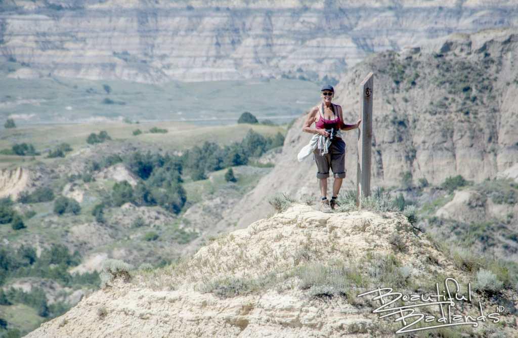 hot hike badlands trail post