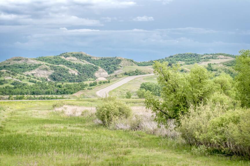 The top of North Dakota Scenic Highway 22 — the Mandan Hidatsa Arikara nation