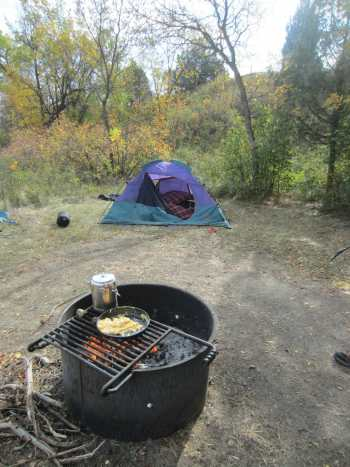 Campfire cooking can become a major part of the camping experience at Elkhorn Campground.