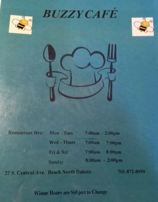 Buzzy Cafe is open assorted hours 7 days a week. Winter hours may vary.