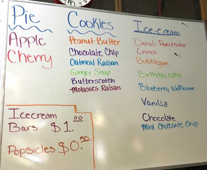 Fresh baked pie and cookies, plus assorted favors of ice cream are a specialty at Buzzy Cafe in Beach, North Dakota.