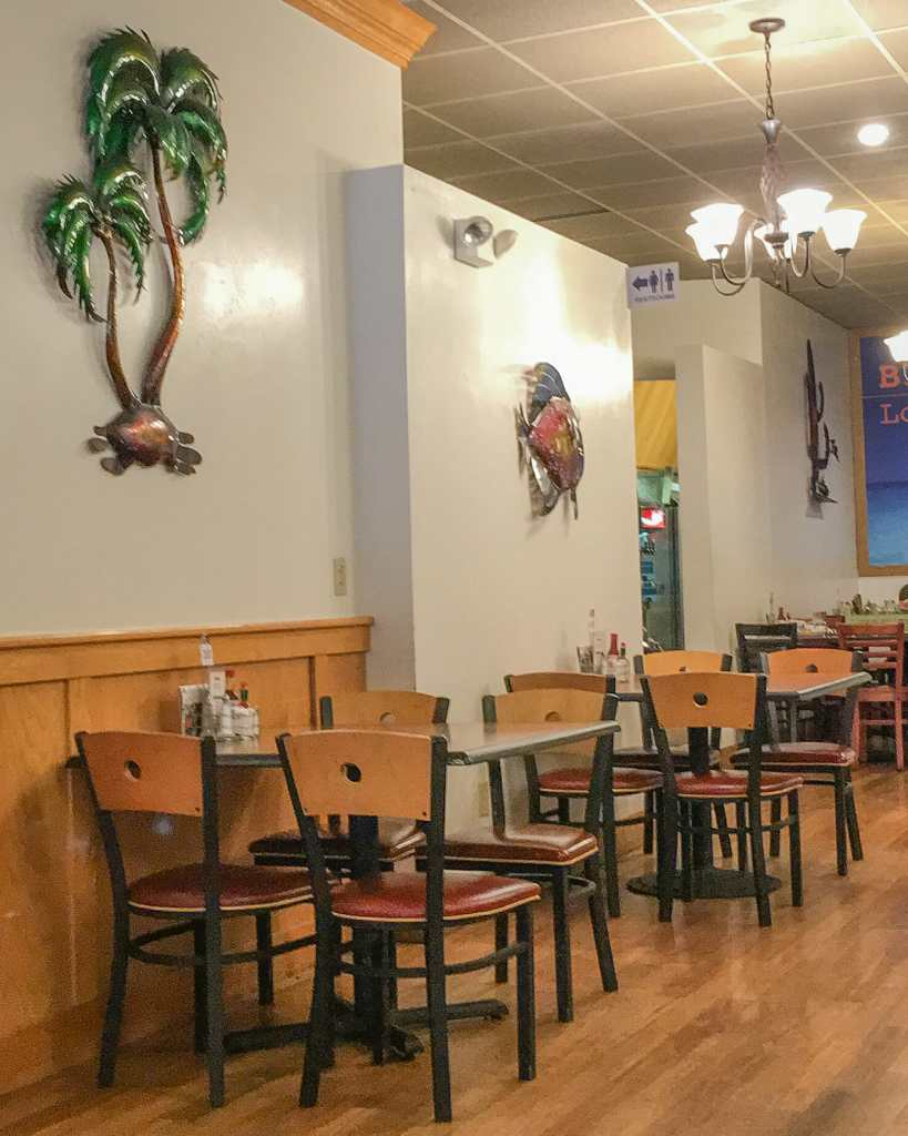 Choose seating at a table or at a booth at Los Compadres.