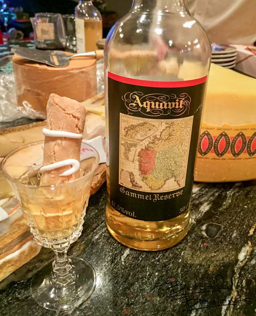 Aquavit, A Norwegian Alcoholic Which Some Consume only at Christmas and New Year's.