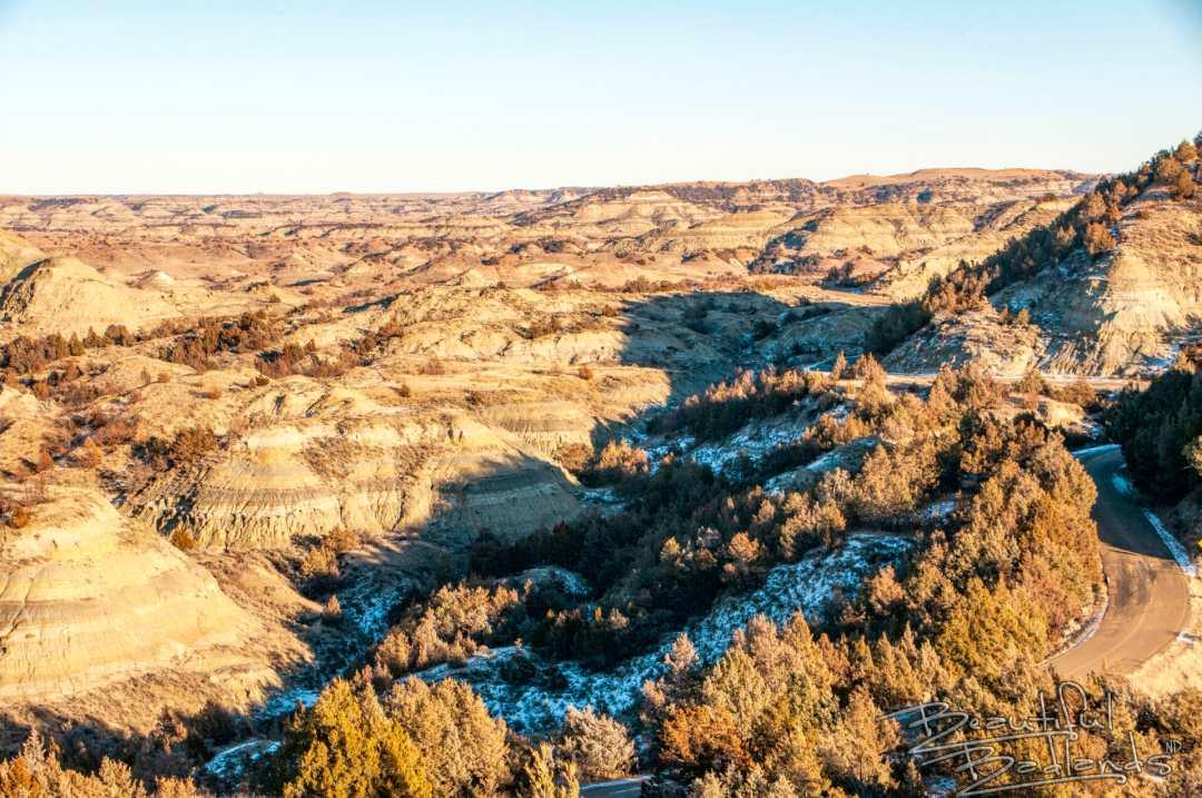 Badlands ridgeline trail