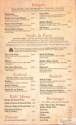 Steaks, Pasta, Burgers, Seafood, and More!