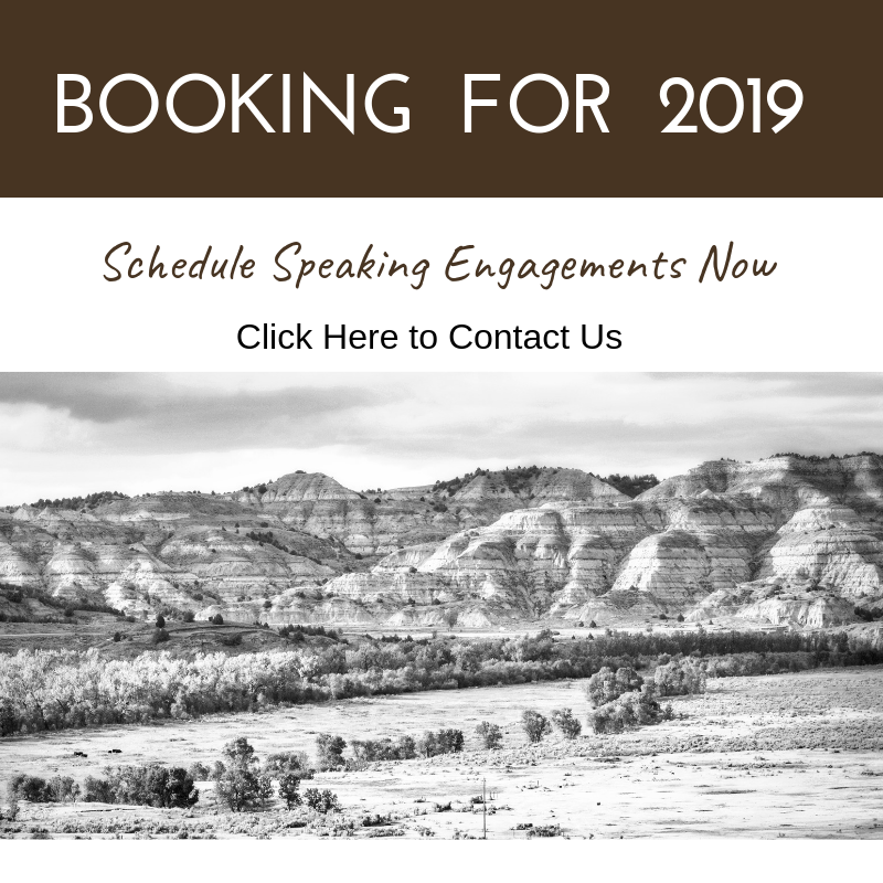 Booking for 2019 black and white ad