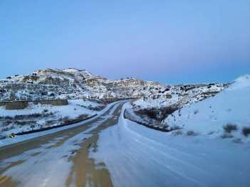 sunset venus belt badlands snow