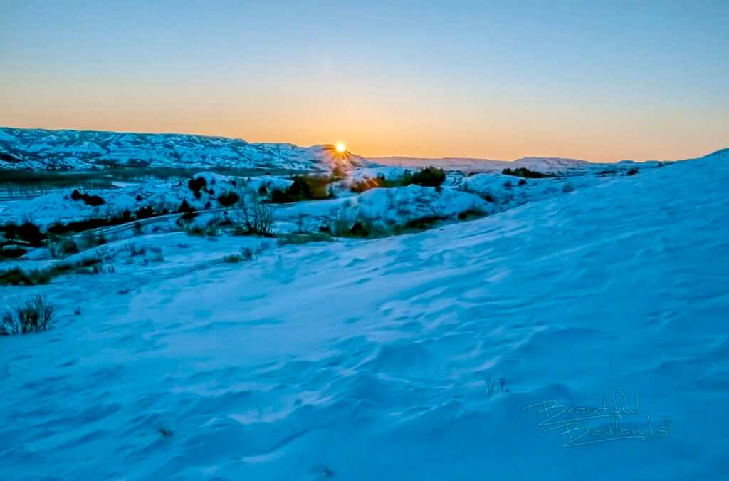 Rare arctic cold in the Badlands. Be brave. You can do it.