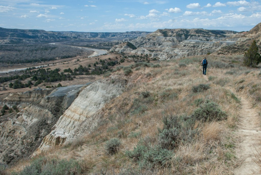 Achenbach Trail in April, Theodore Roosevelt National Park, north unit