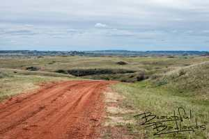 We traced Old Highway Ten as far as we could before it disappeared under present day I-94 east of Medora. This is the heart of historic cattle country! Yes. There are real cowboys here!